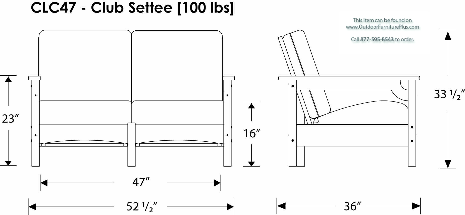 click to see line drawing sofa dimensions
