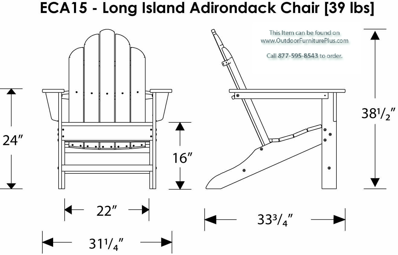 Adirondack chairs drawing - Click To See Line Drawing