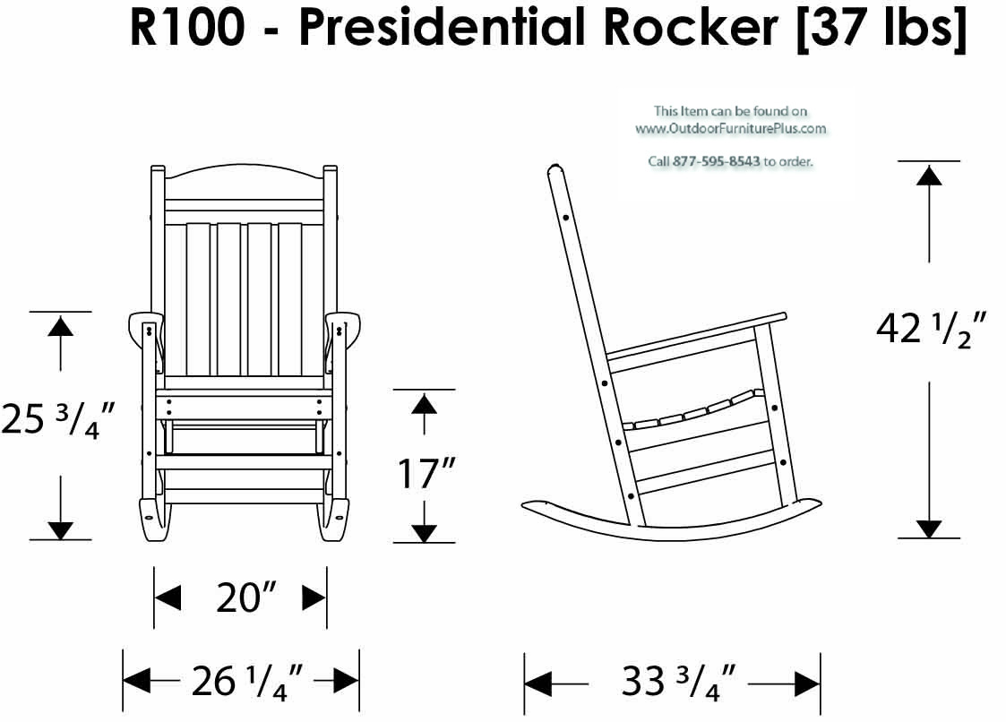 Polywood 174 Presidential Rocking Chair 3 Piece Set