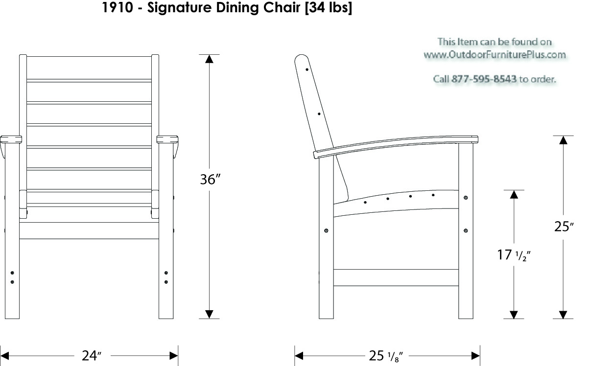 Line Drawing Table : Polywood signature piece dining set