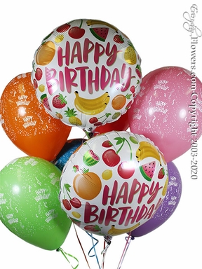 Birthday Fruits Balloons CBB351 $29.99