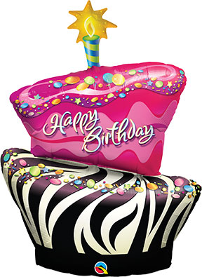 Birthday Funky Zebra Stripe Cake $19.99