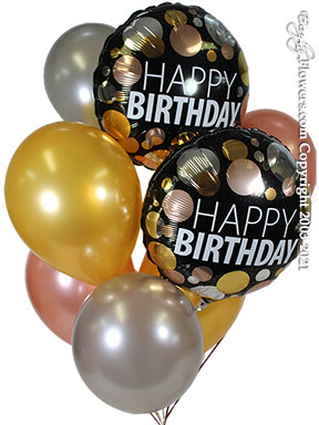 Birthday Metallic Dots Balloons CBB357 $29.99