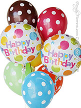 Birthday Polka Dot Balloons $29.99