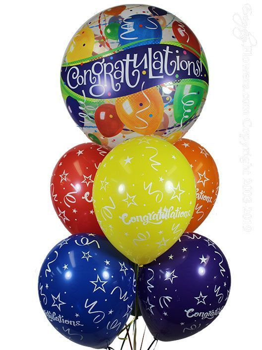 Congratulations Bubble Balloon Bouquet CBB129 $24.99