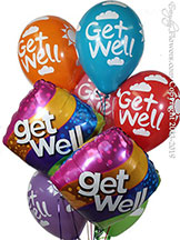 Get Well Curvy Stripes Bouquet $29.99