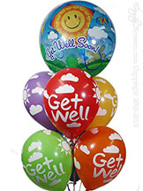 Get Well Bubble Balloons $24.99