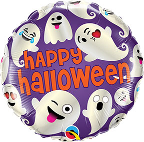 Happy Halloween Emoticon Ghosts Balloon $6.99