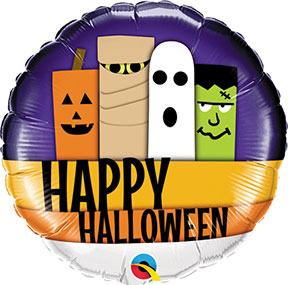 Happy Halloween Line Up Balloon $6.99