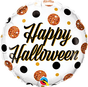 Happy Halloween Sparkly Dots Balloon $6.99