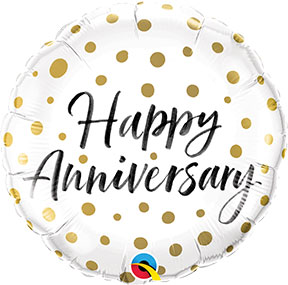 Happy Anniversary Gold Dots $6.99