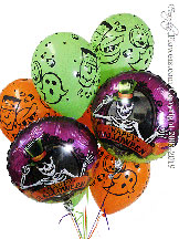 Happy Halloween Balloon Bouquet CBB352 $29.99