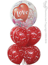 I Love You Bubble Balloons $24.99