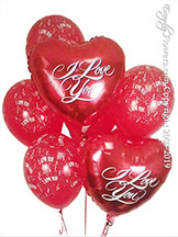 I Love You Balloon Hearts Bouquet $29.99