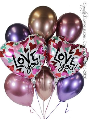 Love You Converging Hearts Balloon Bouquet CBB356 $29.99