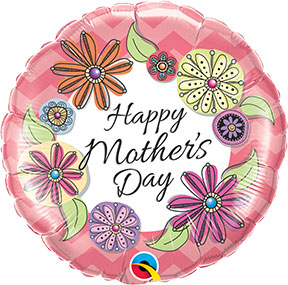 Mothers Day Floral Chevron $6.99 MD004