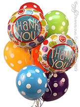Thank You Polka Dots Balloon Bouquet CBB293 $29.99