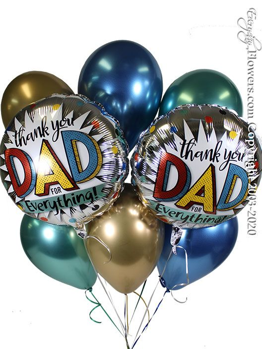 Thank You Dad For Everything Balloon Bouquet CBB360 $29.99