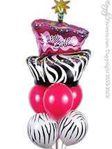 Topsey Turvey Birthday Balloon Bouquet $34.99