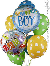 Welcome Baby Boy Balloon Bouquet CBB343 $29.99