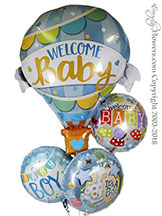 Welcome Baby Boy Foil Balloons $34.99