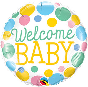 Welcome Baby Dots $6.99