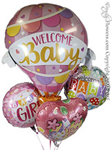 Wellcome Baby Girl Foil Balloons $34.99