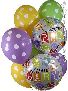 Welcome New Baby Balloons CBB349 $29.99