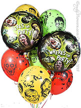 Wheres The Party Zombie Balloons $29.99