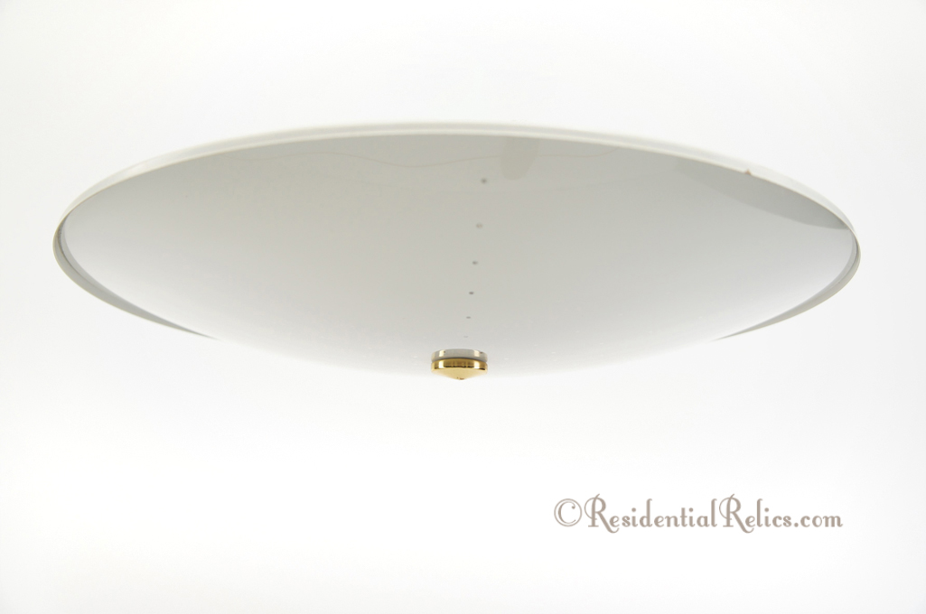 Vintage 1950s Moe Flush Mount Flying Saucer Ceiling Fixture