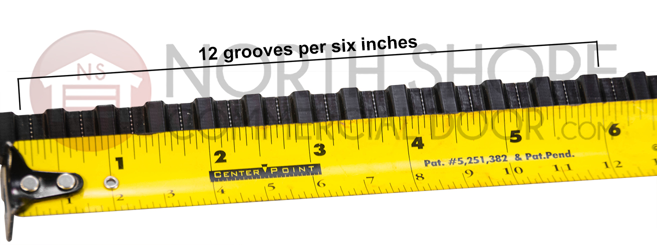12 Grooves per six inches