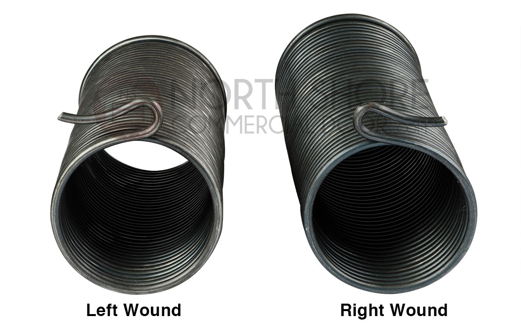Mini Warehouse Garage Door Spring for Self Storage Doors - Left Wound and Right Wound Springs