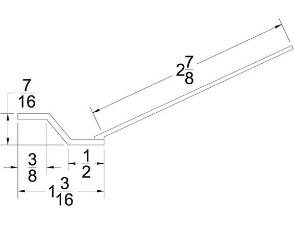 Garage Door Top Section Seal TS-300 Technical Drawing