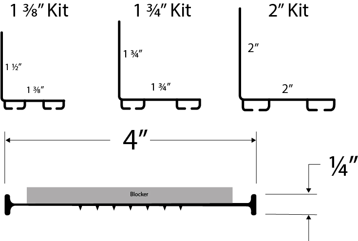 rodentBLOCK Garage Door Replacement Kit With Xcluder Size Examples