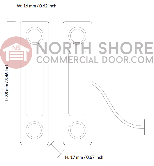 Gogogate Gate and Commercial Door Sensor GGG2-WDS Technical Drawing