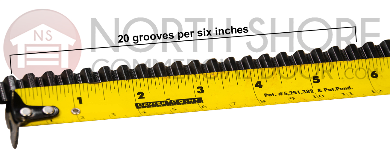 20 Grooves per six inches