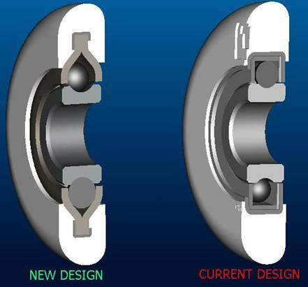 2 Inch 11 / 13 Ball Nylon Garage Door Roller (4 Inch Stem) New Design vs Current Design' /><br /><br />Please note: the old 13 ball roller was rated for max 75 lb load sections and 15,000 cycles.<br /><br />The new 11 ball roller is also rated for max 75 lb sections but passed 50,000 cycles.<br /><br /><br /><br />One key difference is the way the ball bearing race track is formed.  The new wishbone design holds onto the tire a little better and helps keep the tire from coming loose � thus improved performance.  But, less ball bearings can fit into this new design.</div><div class='prop-65-desktop'><button data-toggle='tooltip' class='prop-65 btn-tooltip' title='Warning: This product can expose you to chemicals including 1,3 butadiene which are known to the State of California to cause cancer and birth defects or other reproductive harm. For more information go to www.P65Warnings.ca.gov'><i class='fas fa-exclamation-triangle' aria-label='Warning' alt='Warning'></i> California Residents: Proposition 65 Warning</button></div><div class='prop-65-mobile'><button data-toggle='tooltip' class='prop-65-mobile btn-tooltip-mobile' title='Warning: This product can expose you to chemicals including 1,3 butadiene which are known to the State of California to cause cancer and birth defects or other reproductive harm. For more information go to www.P65Warnings.ca.gov'><i class='fas fa-exclamation-triangle' aria-label='Warning' alt='Warning'></i> California Residents: Proposition 65 Warning</button></div></div><div id=