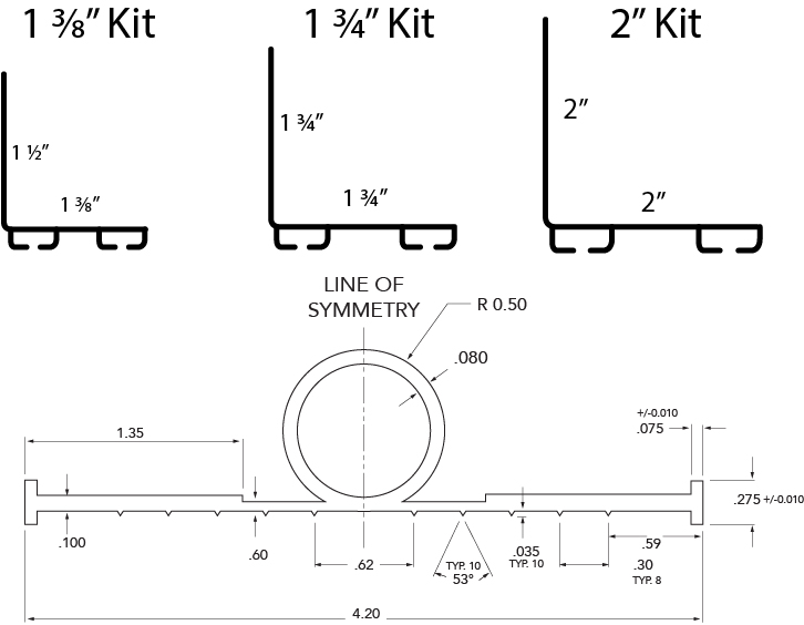 Ultra Seal Kite Technical Drawing