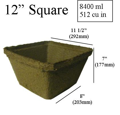 dimentions CowPots 12 inch Square