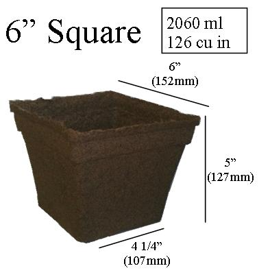 dimentions CowPots 3 inch SixCell