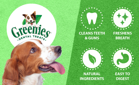 Greenies Dental Treats: Cleans Teeth and Gums, Freshens Breath, Natural Ingredients, Easy to Digest