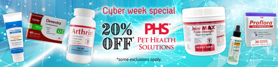 20% off* Pet Health Solutions PHS *some exclusions apply
