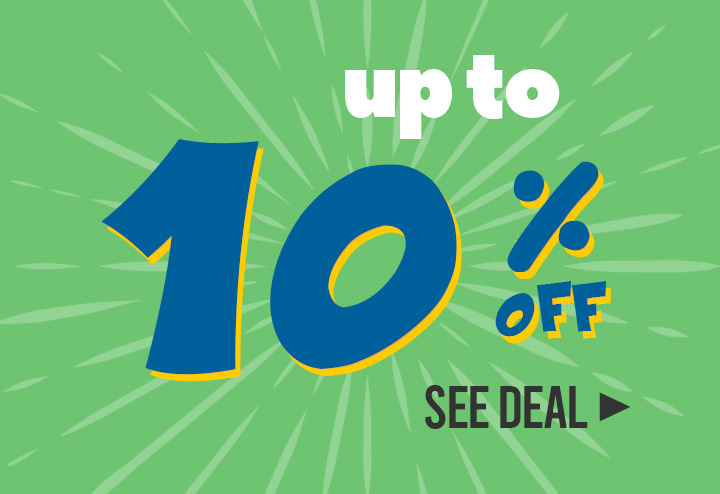 Up to 10% off!