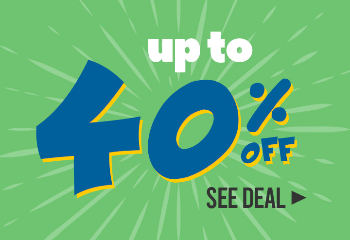 Up to 40% off!