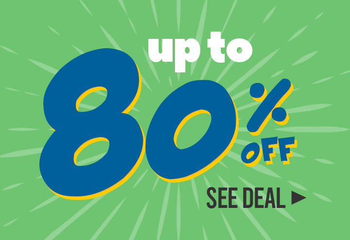Up to 80% off!