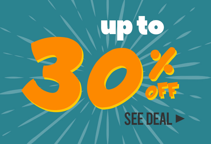 Up to 30% off!
