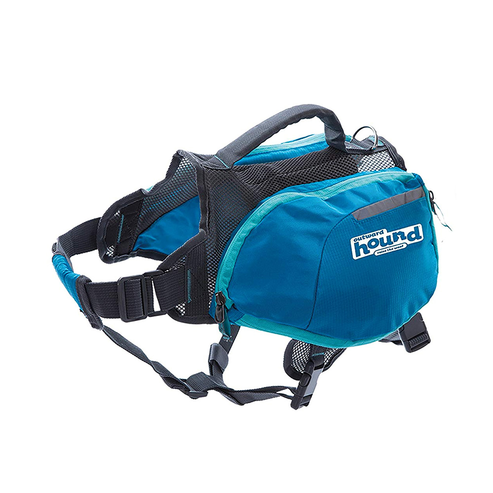 Outward Hound Quick Release Dog Backpack Blue
