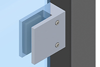 Square Clamp for Glass Railing