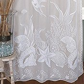 Coastal Lace Window & Shower Curtains