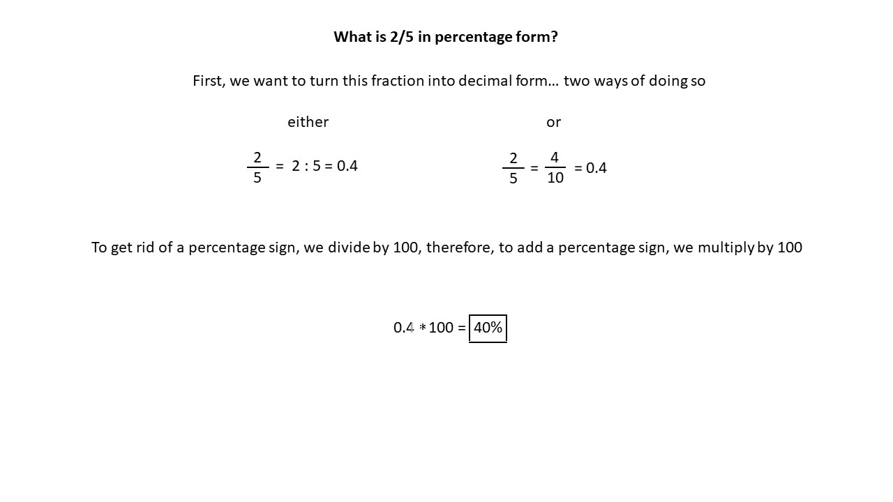 What is 2/5 in decimal form? - Math Homework Answers